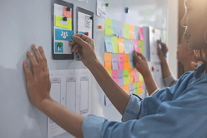 Marketers brainstorming